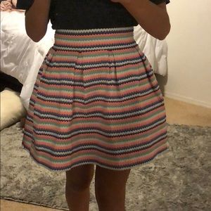 Striped Flare Out Skirt